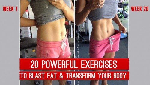 20 Powerful Exercises To Blast Fat & Transform Your Body